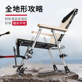 弘日新款多功能钓椅全地形钓鱼椅便携超轻台钓椅折叠钓椅筏钓椅