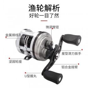 。路亚轮微物鼓轮防海水双线杯泛用远投鱼线轮打黑翘嘴马口金.