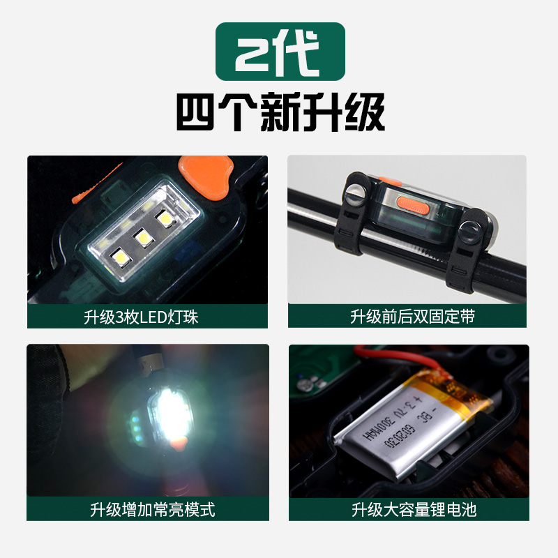 感应充电夜钓拉饵灯钓鱼上饵灯鱼杆灯鱼饵钓鱼灯USB自动饵料灯