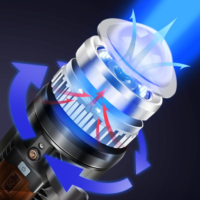 沃尔森激光炮蓝白光钓鱼夜钓灯超亮氙气钓灯夜大功率强光台钓紫灯