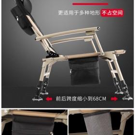 弘日欧式钓椅钓鱼多功能折叠椅躺椅全地形超轻台钓椅可躺折叠凳