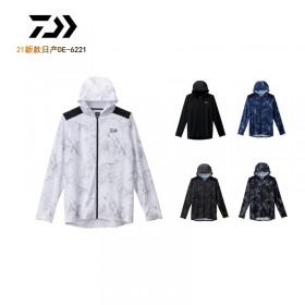 达瓦日产21款DE-6221防晒服连帽钓鱼长袖吸汗速干防晒冷感防晒衣